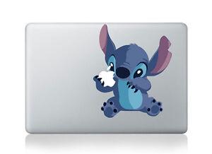 "Cute!! Stitch Sticker Viny Decal for Apple Macbook Air & Pro & Retina 13""15""17"""