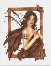 Marjolein Gulinski Greeting Card Fairy Golden Leaf NEW