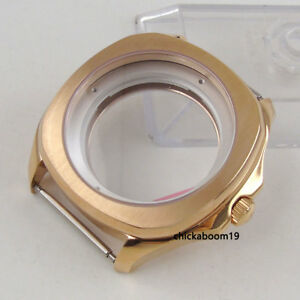 40MM Rose Golden Stainless Steel Case Fit For ETA 2836 Miyota Automatic Movement