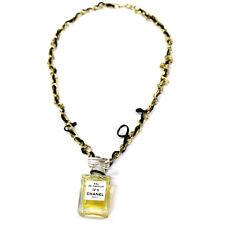 Authentic CHANEL Vintage CC Logos Gold Chain Perfume Pendant Necklace T03906