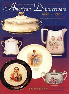 American China Dinnerware 1880-1920s Makers Patterns Marks Dates / Book + Values