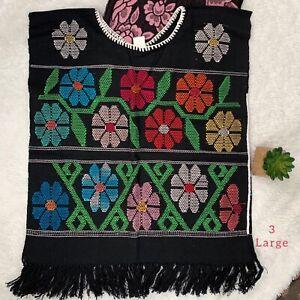 "Mexican ""San Juan"" Handmade Huipil NEW L"