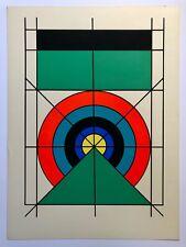 Edival Ramosa Serigraph Brazil Latin American Optic Geometric Art 1971