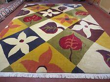 9' X 12' Vintage Hand Made Tibetan Rug Carpet Modern Abstract Colorful  Nice