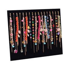 Velvet Necklaces Jewelry Pendant Bracelet Chain Display Holder Stand Organizer