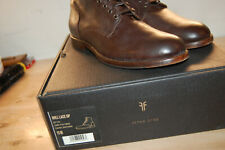 NIB FRYE 87133 Men's Will Lace Up 11 M Boots Brown Italian Leather $358