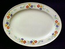 Vintage Knowles China Oval Serving Platter Semi Vitreous Floral USA 1941 42-3