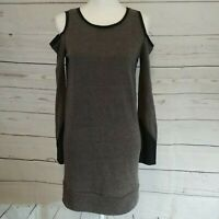 Rachel Rachel Roy Cold Shoulder Knit Dress Size XS Heathered Gray Short