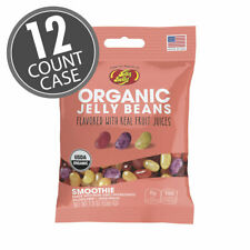 Jelly Belly Organic Smoothie Jelly Beans- 12 Count Case-1.9 oz bags