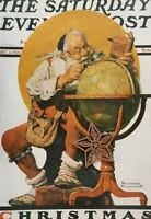 Norman Rockwell Book Page Art Print SANTA CLAUSE CHRISTMAS MAGAZINE COVER