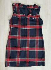 TARTAN DRESS size 14 blue NEXT red SLEEVELESS black V-NECK white CHECKED party