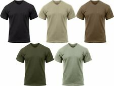 Moisture Wicking T-Shirt Solid Tactical Workout Crew Neck Comfy Tee