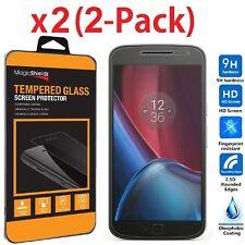 2-Pack Tempered Glass Screen Protector Film for Motorola Moto G4 Plus