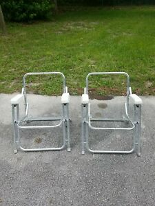2 Folding Deck Chair Boat Dock Frames Only