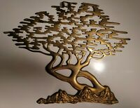TREE OF LIFE Brass Wall Mount Large Meaningful Etz Chaim Art Vintage Sculpture
