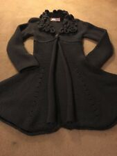 Stunning Little Girls Knitted Cardi Coat Age 6 New Pinco Pallino Cost Over £200