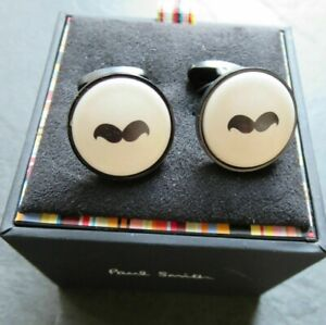 Paul Smith  Moustache face cufflinks