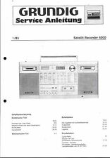 Grundig Service Manual für Satellit Recorder 4000