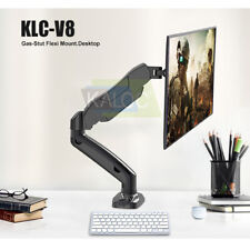"""Monitor Desk Mount Stand Full Motion Swivel Monitor Arm Gas Spring 17""""~27"""""""