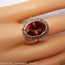 Ruby Studded Silver Wedding Ring Jewelry Artdeco Estate 1.08cts Rose Cut Diamond