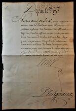 LOUIS XIV SIGNED LETTER - DECLARATION REGULATING POLICE OFFICERS SUNCTIONS 1701