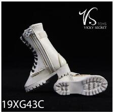VSTOYS 1/6 Zipper Boots 19XG43C Female Shoes  F 12'' Figure Doll White Color