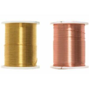 Trimits Beading Wire 28 Gauge 20 Metre Reel Gold & Copper Jewellery Making Craft