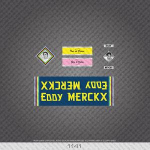 01141 Eddy Merckx Bicycle Stickers - Decals - Transfers