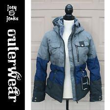 Women's NWT NEW Retail $350.00 Obermeyer Gray Navy Leighton Ski Jacket 6 Petite