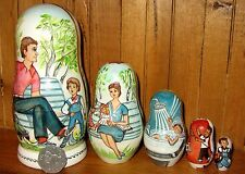 Russian Dolls 5 Matryoshka Mayakovsky What is Good and What is Bad signed