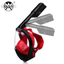 UGI Foldable Top Snorkel Scuba Full Face Dry Diving Mask For GoPro Swim Anti-Fog