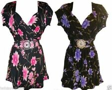 Floral Hip Length Other Tops & Shirts Plus Size for Women