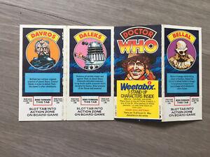 Dr Who Weetabix Vintage Cards 1977 Uncut