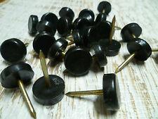 Furniture Nail Glides - Nylon Floor Protectors - 19mm - Black - 24 Count