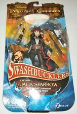 Pirates of the Caribbean Swashbucklers CAPTAIN JACK SPARROW Action Figure NIB