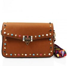 d2bf1a9456b Ladies PU Leather Small Studded Cross body Bag Handbag Shoulder Party Clutch  Bag