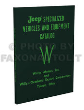Willys Jeep Equipment Book 1957 1958 1959 Truck Wagon CJ3B CJ5 CJ 3B 5 Pickup