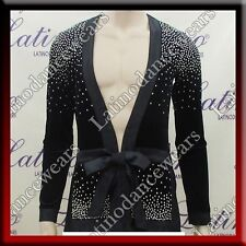 MEN'S LATIN SALSA (BALLROOM) COMPETITION SHIRT SIZE S, M, L (B234)