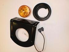 "One 2"" Round LED Amber Trailer Marker Light w/Bracket"