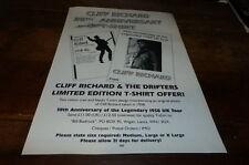CLIFF RICHARD - Publicité de magazine / Advert 38TH ANNIVERSARY !!! UK
