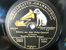 78rpm WENDLING QUARTET on ACOUSTIC SCHALLPLATTE GRAMMOPHON - BEETHOVEN+​SCHUBERT