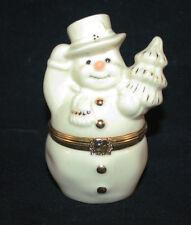 Nib Lenox Treasures The Snowman Surprise Box, Dated, Trinket Box