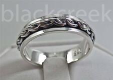 925 Sterling Silver ~ Men's Spinner ~Wedding Band~ Size 10.75
