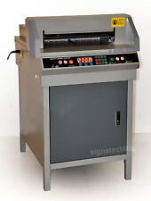 "450mm Paper Guillotine Cutter Stack Cutting Machine,17.7"" Electric Trimmer"