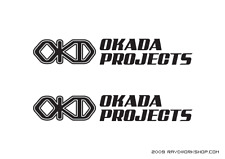 (2) OKADA PROJECTS Sticker DieCut Decal JDM logo