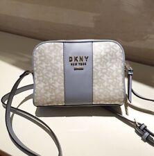 DKNY Noho Camera Bag T&C Logo - Light Blue/Beige