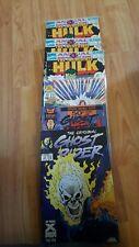 4 Hulk,2 Ghost Rider, (1992-1994 Marvel) Lot of 7 comics