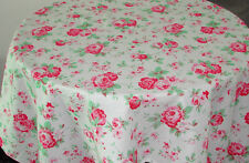 CATH KIDSTON TABLECLOTH 5FT ROUND. VINTAGE SHABBY CHIC PINK RED ROSES KIKIBE