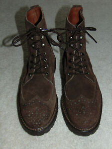 Allen Edmonds 'Saukville' Brown Suede Ankle Lace-Up Boot Men's 9 1/2 Made in USA