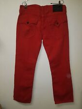 Men's True Religion   Red jeans Size 36x33  Section   Straight     (#1420